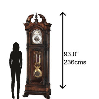 See Details - Howard Miller Reagan Grandfather Clock 610999