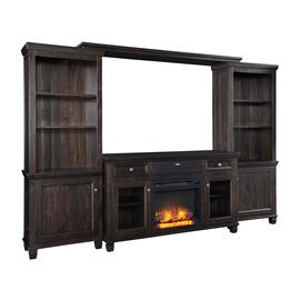 Townser 4-piece Entertainment Center With Electric Fireplace