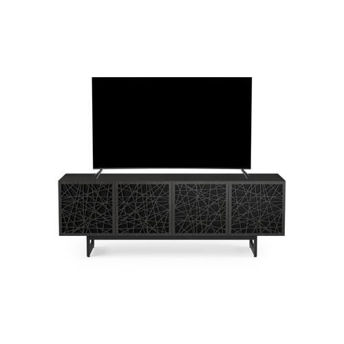 BDI Furniture - Elements 8779 Media Media Cabinet in Ricochet Doors Charcoal Stained Ash