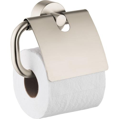 Brushed Nickel Toilet Paper Holder with Cover