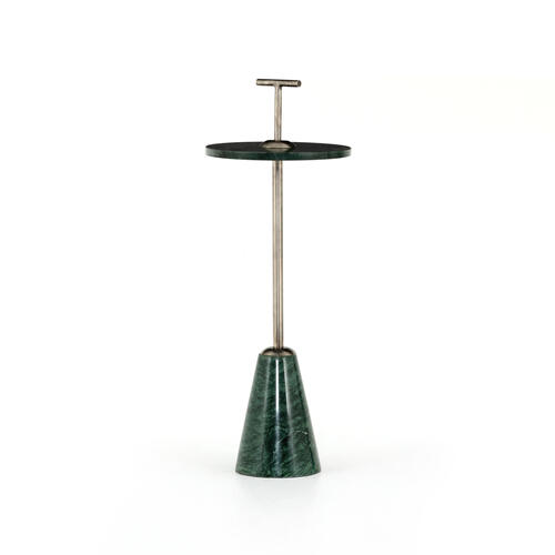 Willa Accent Table-green Marble
