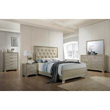 Dawson Tufted King Bed with Faux Leather
