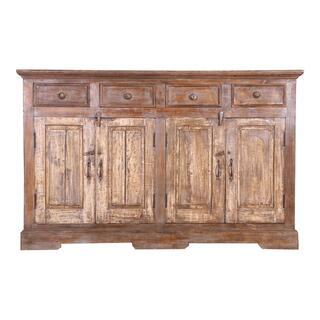Antique Wood Sideboard Ue30