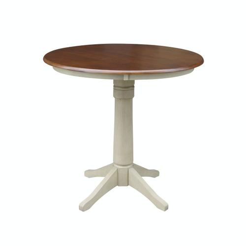 """36"""" Pedestal Table in Espresso / Almond"""