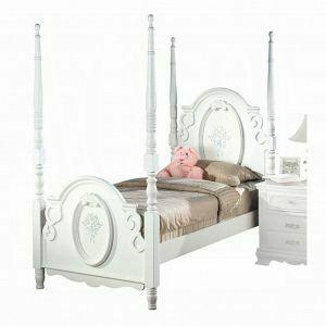 ACME Flora Full Bed (Poster) - 01657F - White