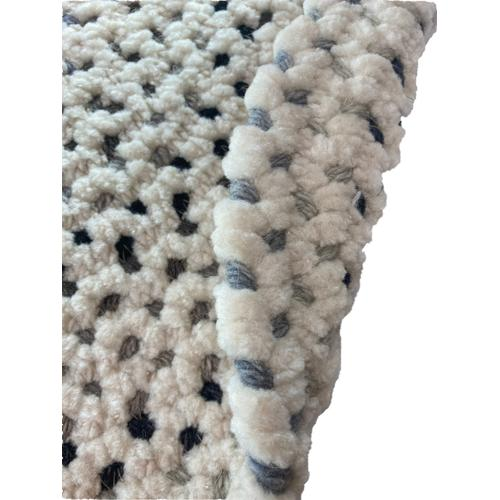 Dramatic Static Foggy Day Braided Rugs