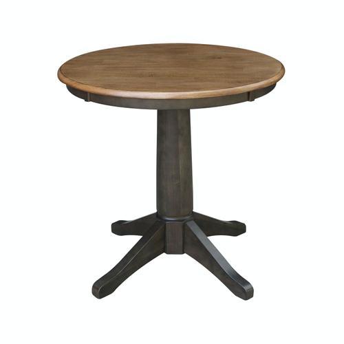 "John Thomas Furniture - 30"" Pedestal Table in Hickory/Coal"