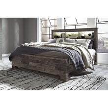 Derekson King Bed W/Bookcase Headboard Multi Gray