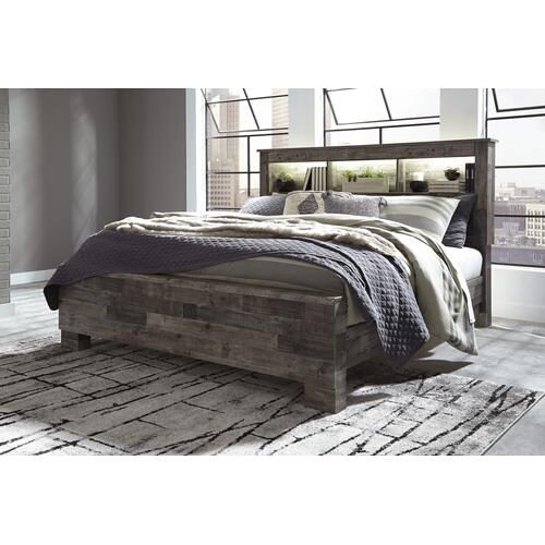 Derekson - Multi Gray 3 Piece Bed (King)