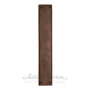Rectangular Push Plate Shown in light bronze patina Product Image