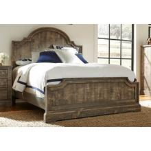 5/0 Queen Panel Bed - Weathered Gray Finish