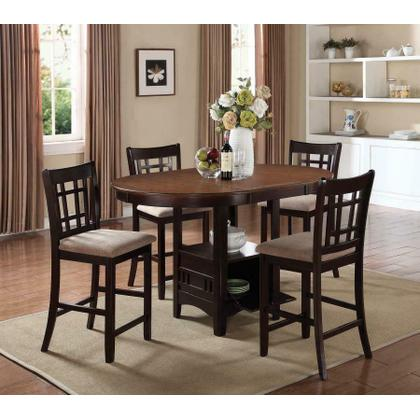 See Details - Lavon Transitional Espresso Five-piece Counter-height Dining Set