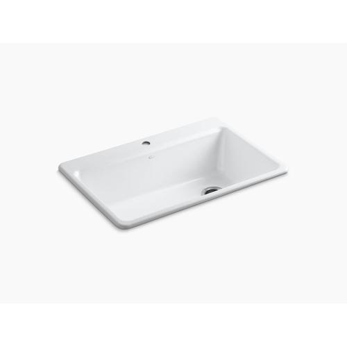 "Black Black 33"" X 22"" X 9-5/8"" Top-mount Single-bowl Workstation Kitchen Sink With Accessories"