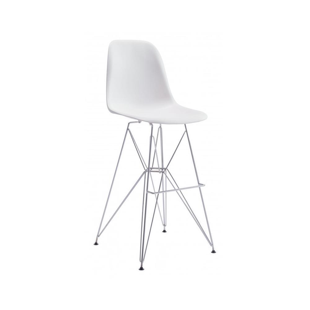 Zip Bar Chair White