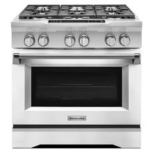 See Details - 36'' 6-Burner Dual Fuel Freestanding Range, Commercial-Style Imperial White