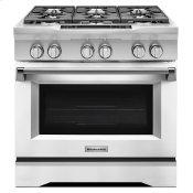 36'' 6-Burner Dual Fuel Freestanding Range, Commercial-Style Imperial White