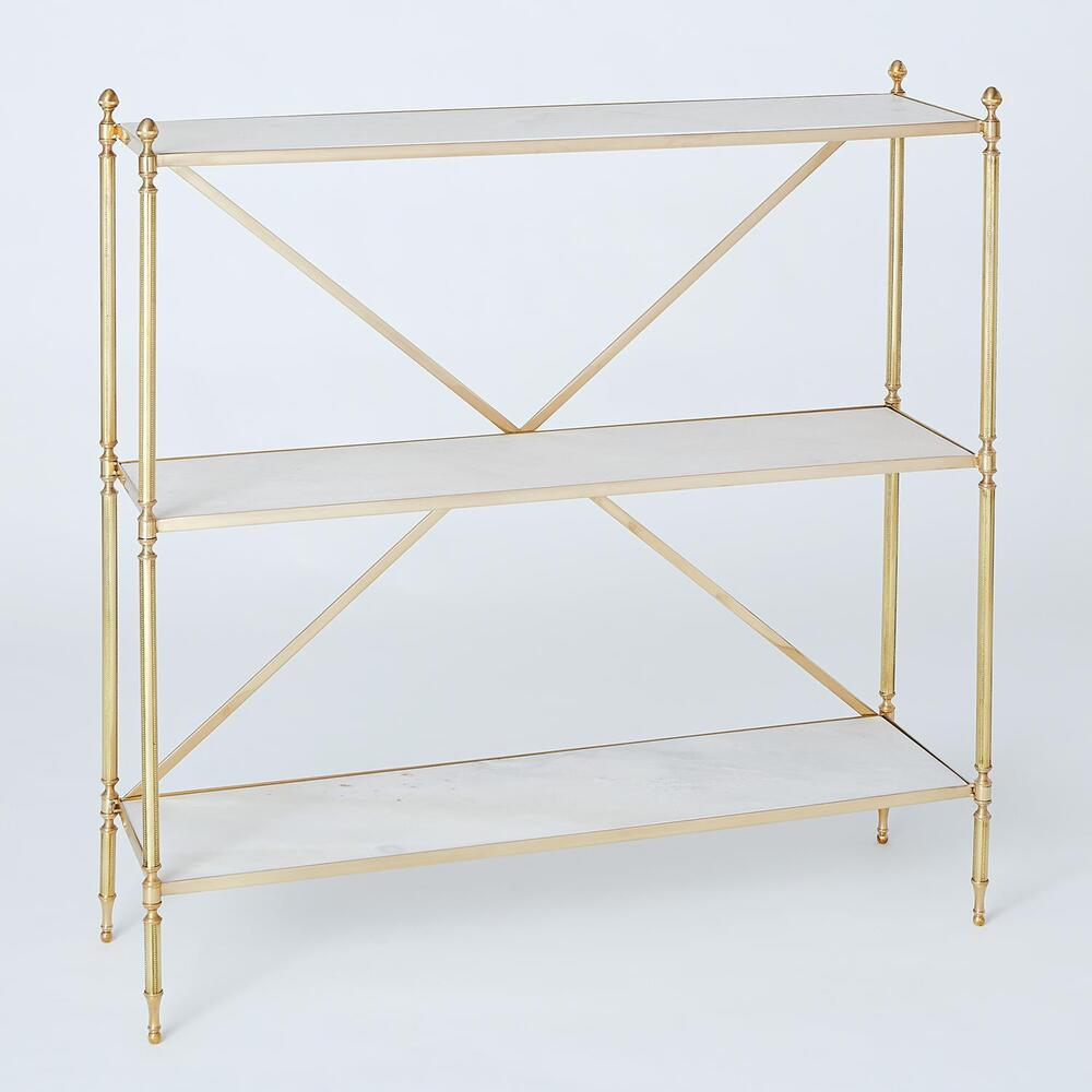 See Details - Acorn Open Shelf-Brass
