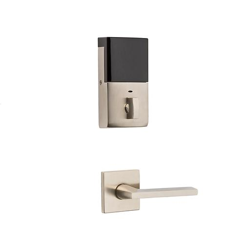 Satin Nickel with Lifetime Finish Evolved Minneapolis Full Escutcheon Handleset