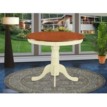 """Antique Table 36"""" Round with Buttermilk and Cherry Finish"""