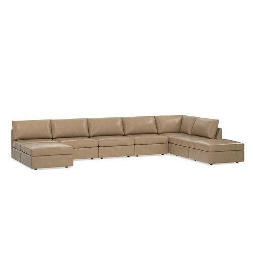 Beckham Leather U-Shaped Sectional