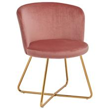 Alexa Velvet Upholstered Dining Chair, Pink