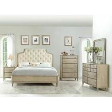 ACME Wynsor Queen Bed - 27530Q - Fabric & Antique Champagne