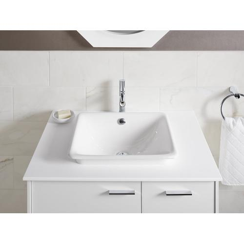 White Bathroom Sink With White Painted Underside