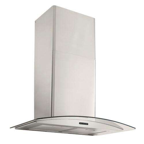 Broan® 36-Inch Convertible Curved Glass Wall-Mount Chimney Range Hood, 400 CFM, Stainless Steel