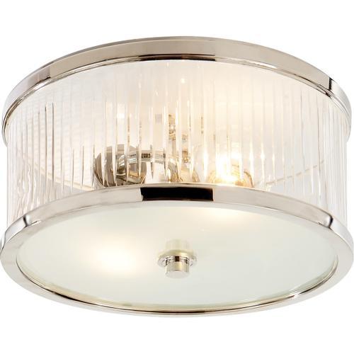 - Alexa Hampton Randolph 2 Light 11 inch Polished Nickel Flush Mount Ceiling Light
