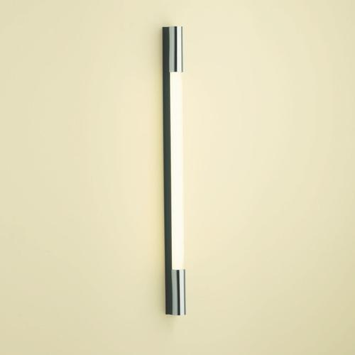 """1.5 Series 1-1/2"""" X 30"""" X 2-1/8"""" Pl Series Vertical Lighting With Dimmable Light, Glass Shade and Black End Caps"""