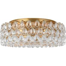 AERIN Liscia 6 Light 25 inch Gild Flush Mount Ceiling Light, Large
