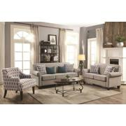 Gideon Transitional Cement Three-piece Living Room Set Product Image