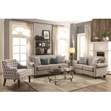 Gideon Transitional Cement Three-piece Living Room Set