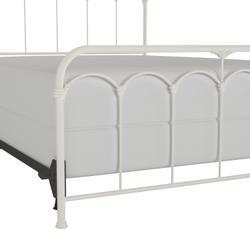 Jocelyn King Metal Bed, Soft White