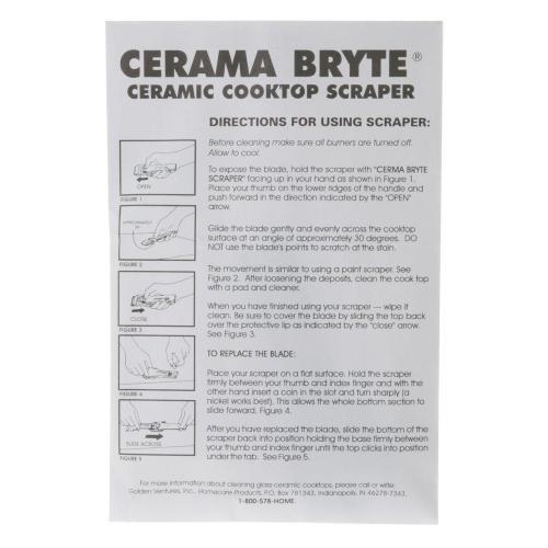Cerama Bryte Cooktop Scraper