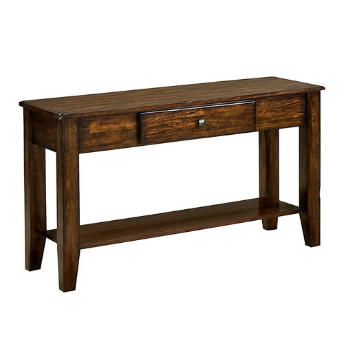 Kona Sofa Back Table  Raisin