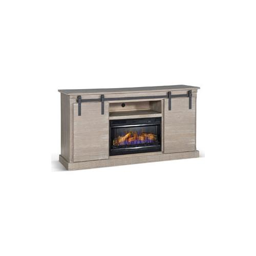 "Barn Door TV Console/ Fire Place (26""FB)"