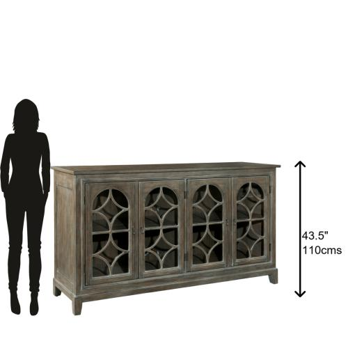 Hekman - 2-7457 Entertainment Console With Arched Doors