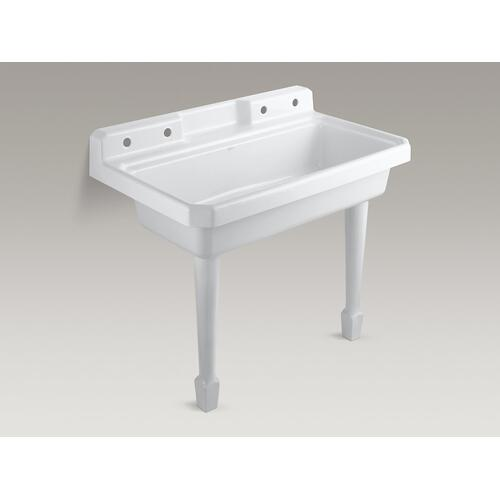 "White 4-1/8""x 26-5/8"" High Fireclay Legs (pair)"