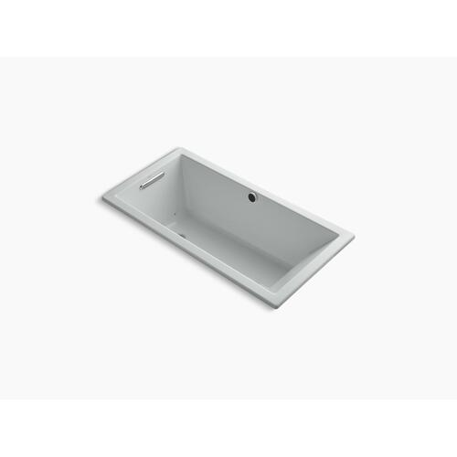 """Ice Grey 60"""" X 30"""" Heated Bubblemassage Air Bath With Reversible Drain"""