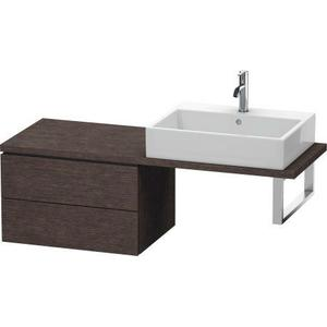Low Cabinet For Console Compact, Brushed Dark Oak (real Wood Veneer)
