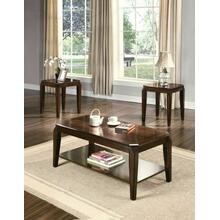 ACME Docila 3Pc Pack Coffee/End Table Set - 80655 - Walnut