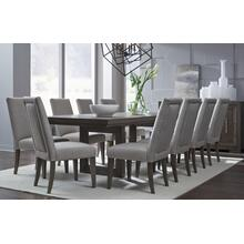 Facets Rectangular Double Pedestal Table