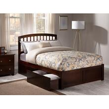 Richmond Full Flat Panel Foot Board with 2 Urban Bed Drawers Walnut