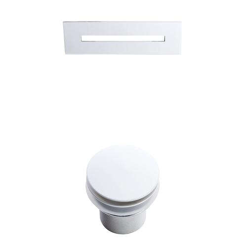 """Nyx 72"""" Acrylic Double Slipper Tub with Integral Drain and Overflow - White Powder Coat Drain and Overflow"""