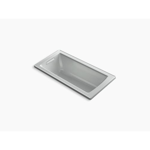 "Ice Grey 60"" X 30"" Drop-in Bath With Bask Heated Surface and Reversible Drain"