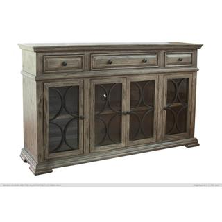 See Details - Console w/ 4 Glass Doors w/ 3 Drawers