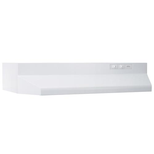 Broan® 42-Inch Ducted Under-Cabinet Range Hood, 160 CFM, White