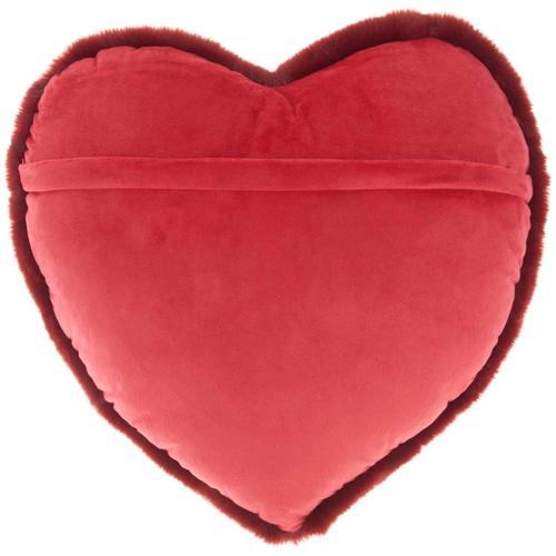 "Faux Fur Sn103 Deep Red 18"" X 18"" Throw Pillow"