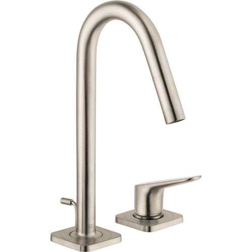 Brushed Nickel 2-Hole Single-Handle Faucet 160 with Pop-Up Drain, 1.2 GPM